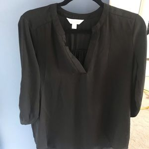 Black blouse with 3/4 sleeves